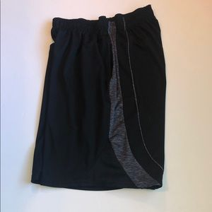 Game time black athletic shorts
